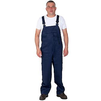 Bib and Brace - Nine Pocket - Navy Mens Work Bib Overalls Industrial