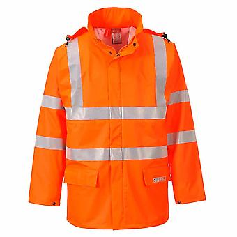 Portwest - Sealtex Flame Resistant Safety Workwear Hi-Vis Waterproof Jacket