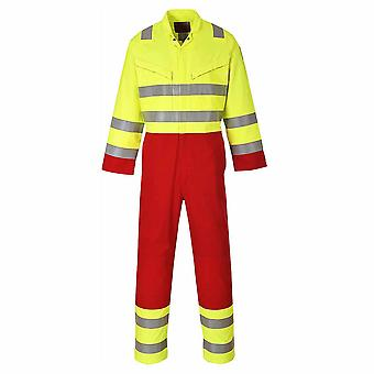 sUw - Bizflame Fire Resistant Hi-Vis Safety Workwear Services Coverall