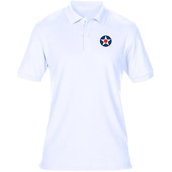 U.S. Army Air Corps ricamato Logo - Mens Polo Shirt