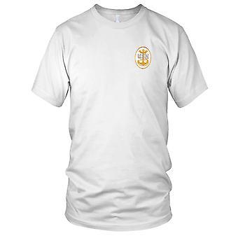 US Marine US Marine Master Chief Crest dos Patch brodé - Mens T Shirt