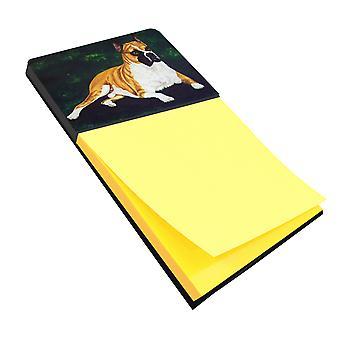Carolines Treasures  AMB1064SN Dempsey Boxer Sticky Note Holder