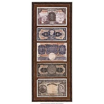 Foreign Currency Panel II Poster Print by Vision studio (9 x 21)