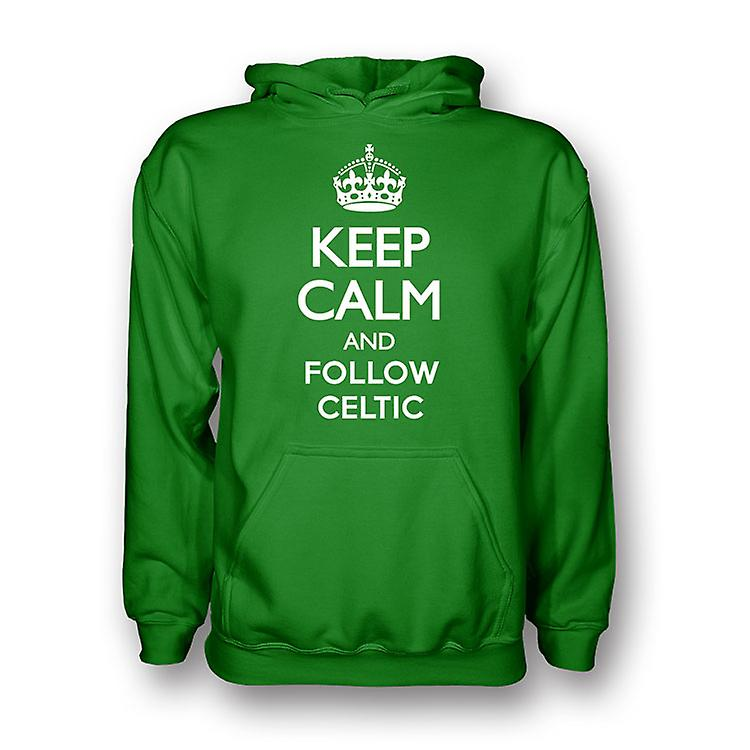 Keep Calm And Follow Celtic Hoody (green) - Kids