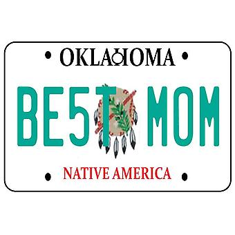 Oklahoma - Best Mom License Plate Car Air Freshener
