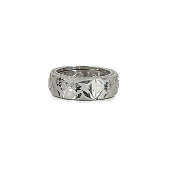 Azhar men's 164SILVER24 silver metal ring