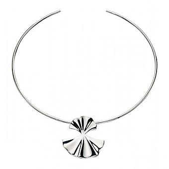 Elements Silver Large Ginko Leaf Pendant - Silver