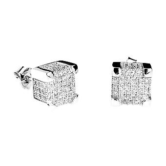 925 Silver MICRO PAVE earrings - IMPERIAL 9 mm