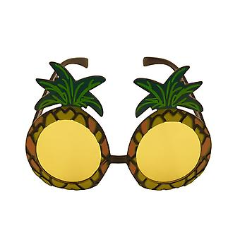 Adult Pineapple Sunglasses With Yellow Lenses Fancy Dress Accessory