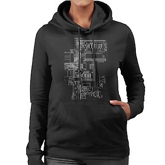 ZX Spectrum Computer Schematic Women's Hooded Sweatshirt