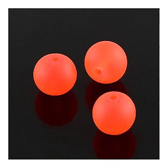 Strand 135+ Orange Glass 6mm Frosted Plain Round Beads Y05095