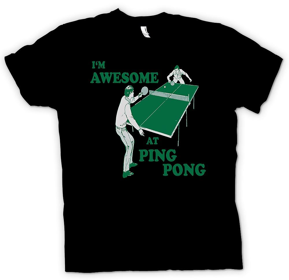 Kids T-shirt - I'm Awesome At Ping Pong - Quote