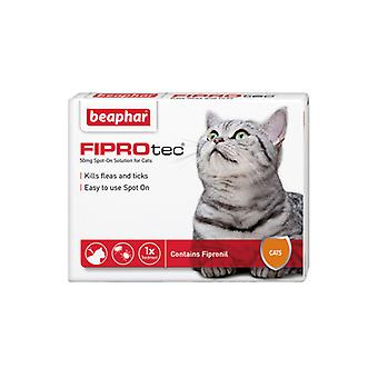 Beaphar FIPROtec Spot On for Cats, 4 X Tratamiento contra pulgas