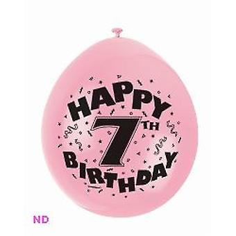 "Balloons 'HAPPY 7th BIRTHDAY' 9"" Latex Balloons (10)"