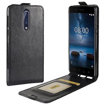 Premium Flip case black for Nokia 8 2017 sleeve case cover protection accessories pouch new