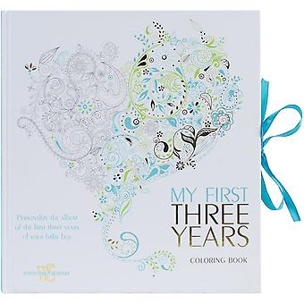 White Star Publishing Books-My First Three Years Coloring -Boy