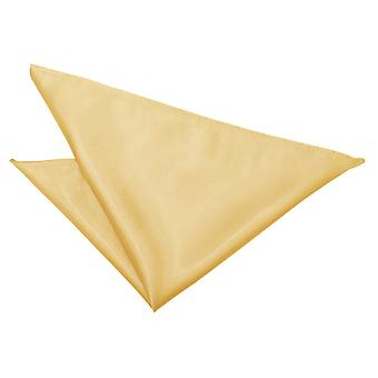 Pale Yellow Plain Satin Pocket Square