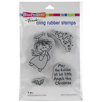 Stampendous Cling Stamp -Heavenly Kiddo