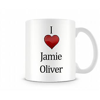 Me encanta Jamie Oliver taza impresa