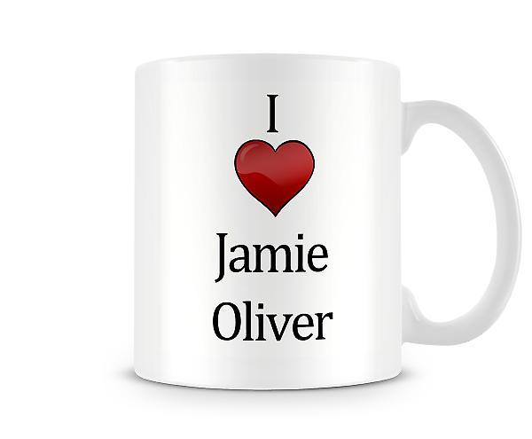 Ik hou van Jamie Oliver bedrukte mok