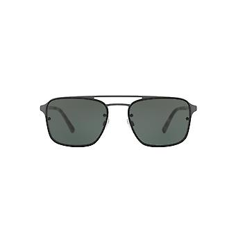 Burberry Metal Square Sunglasses In Grey Rubber