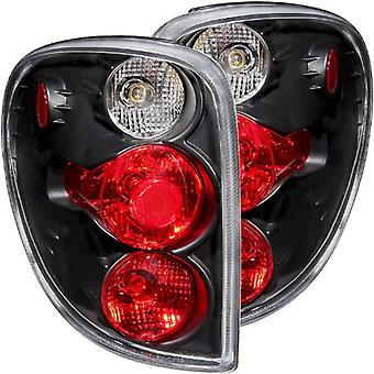 Anzo USA 211036 Dodge Caravan Black Tail Light Assembly - (Sold in Pairs)