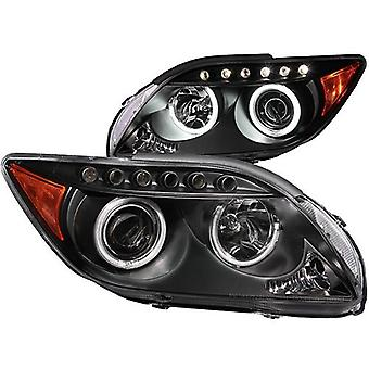 Anzo USA 121119 Scion tC Projector with Halo Black Headlight Assembly - (Sold in Pairs)