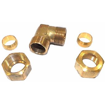 Big A Service Line 3-165920 Brass Pipe, 90 deg Street Elbow Fitting 3/4