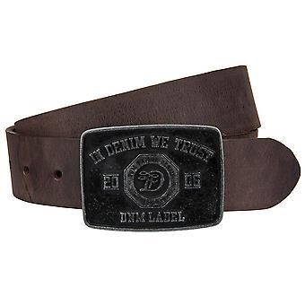 Tom tailor cuero de hombres de mezclilla acoplamiento correa marrón TM0189L141-0690