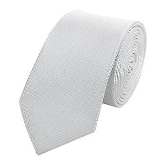 Cravatta cravatta cravatta cravatta stretta 6cm bianco waffle Fabio Farini