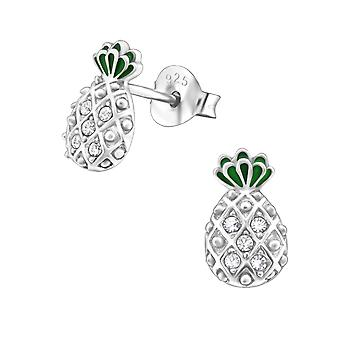 Ananas - 925 Sterling Silber Crystal Ohrstecker - W30240x