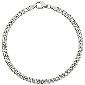 Rustning armbånd 925 sterling sølv 19 cm armbånd sølv karabinkrok