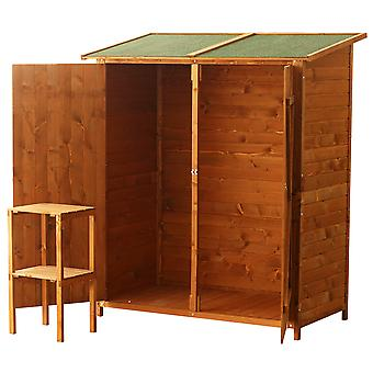 Outsunny Wooden Timber Garden Storage Shed - Double Door