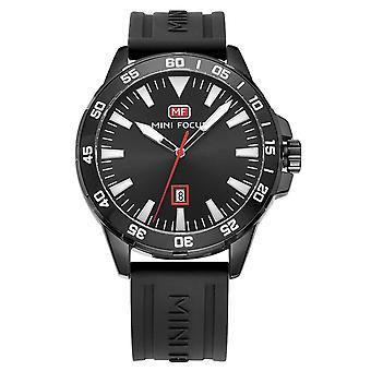 Mens Watch zwart rode jongens slimme analoge horloges witte aanwezig Mini Focus