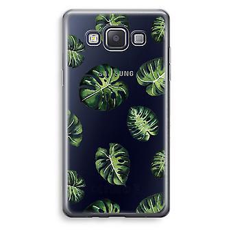 Samsung Galaxy A5 (2015) Transparent Case (Soft) - Tropical leaves