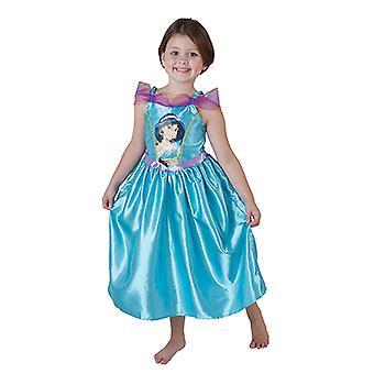 Jasmine Aladdin Big Print Classic Prinzessin Kleid Kinder Kostüm Disney