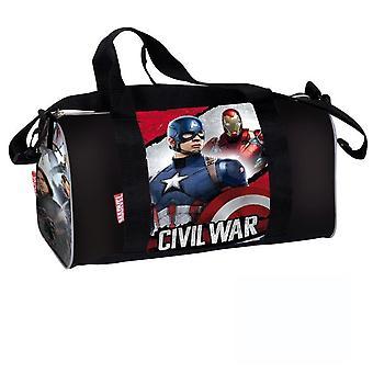 Captain America vs Iron Man gym bag