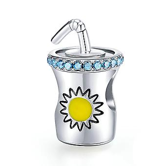 Sterling silver charm Cold drink cup