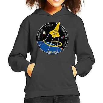 NASA STS 120 Shuttle Mission Imagery Patch Kid's Hooded Sweatshirt