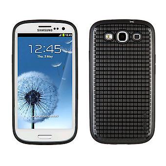 Flekk produkter Pixelskin HD gummiert mobiltelefon tilfelle for Samsung Galaxy S3 - B