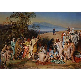 Cristo aparece a la gente, Alexandr Ivanov, 40x60cm con bandeja