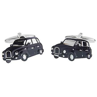 Zennor London Taxi Cufflinks - Black/Silver