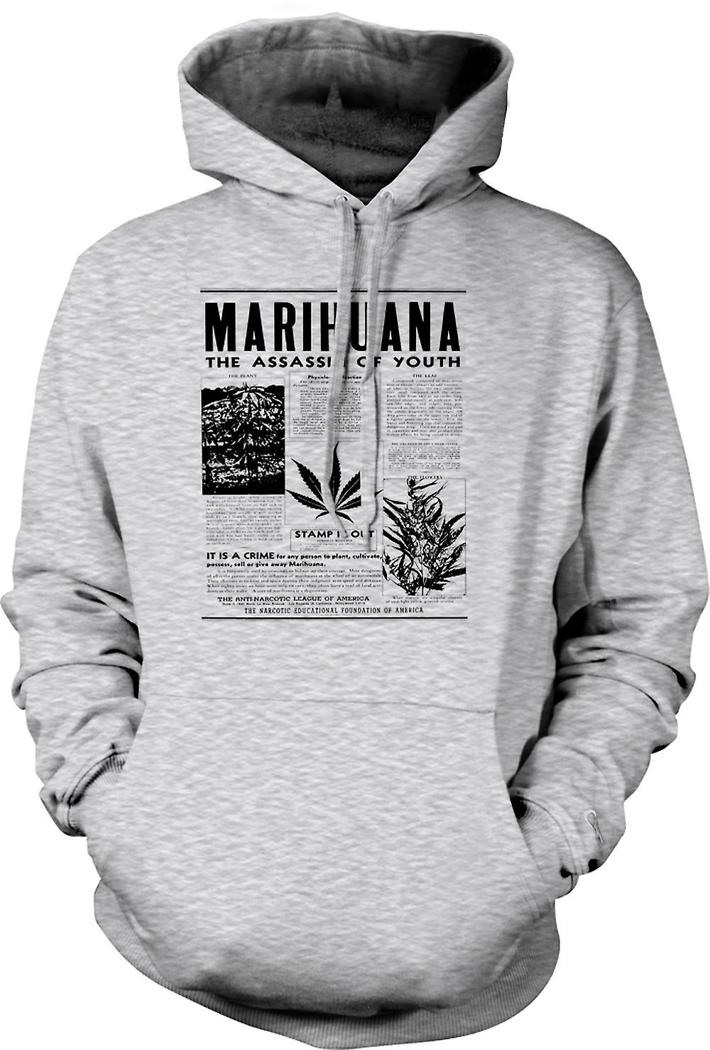 Mens Hoodie - Marihuana Hash - Assassin Of Youth