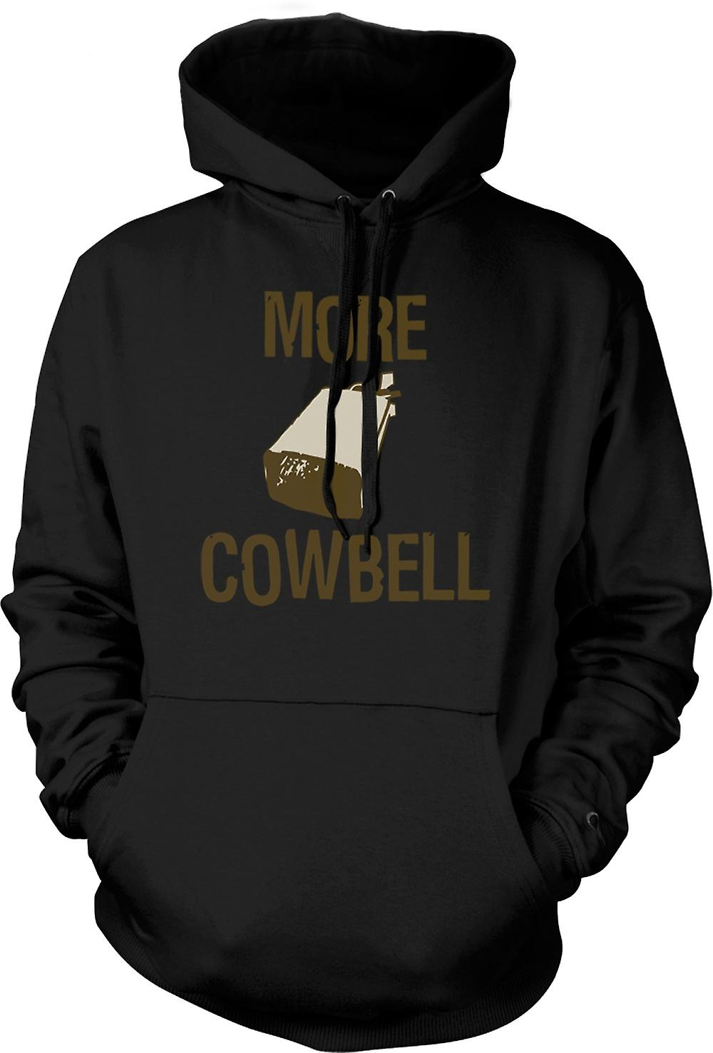 Mens Hoodie - More Cowbell - Quote