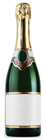 Bottle of Champagne - Lifesize Cardboard Cutout / Standee