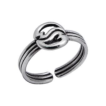 Circle - 925 Sterling Silver Toe Rings - W4358X