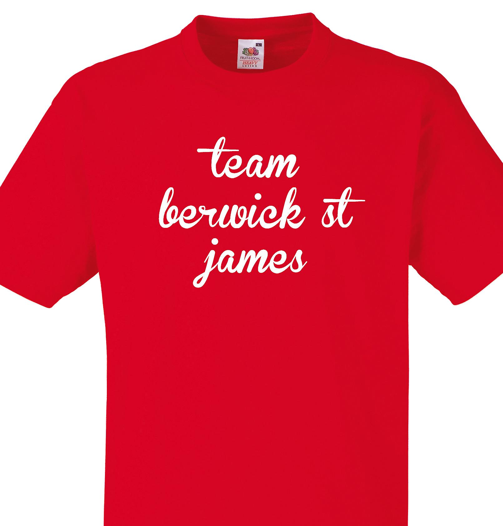 Team Berwick st james Red T shirt