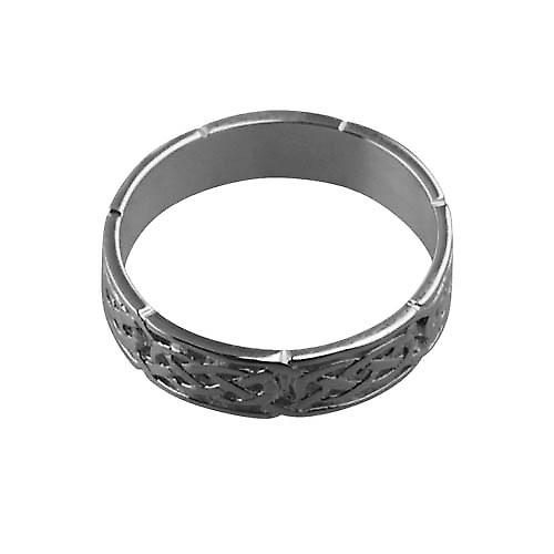 18ct White Gold 6mm Celtic Wedding Ring Size Z