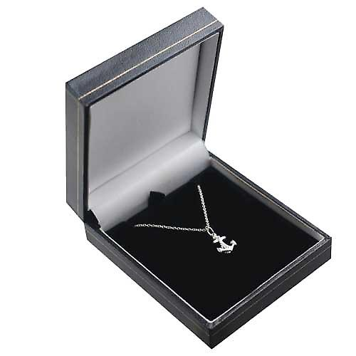 Silver 12x11mm anchor symbol of hope Pendant with a rolo Chain 16 inches Only Suitable for Children