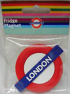 London (Underground) roundel rubber fridge magnet